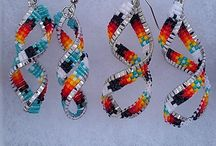 First Nations Beading Ideas / My collection of earrings n beaded items that I liked to make  / by Mariah Battiste