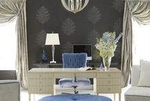 Offices / #office #homeoffice #chicoffice / by Amanda Carol Interiors