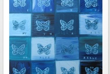 Blue Blue Blue + White (LOVE) / by Patti Friday