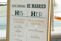 Cheers To The Bride and Groom! / Signature cocktails for your wedding day!  / by Bridal Party Tees