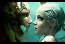 Singularity, Androids & Robots / Man and machine. Prosthetic advancements.  Transhuman. Cyborgs. Robots. Art. Humanity. Technology. Singularity. Augmented reality. Cybernetics. Bionic. / by Designome