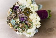Unique Wedding Bouquets / ~~~Mainly bouquets made from brooches and brooch decorations~~~ / by Michelle Ray Viscal
