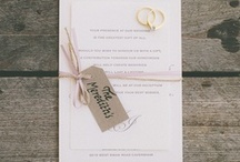 {real wedding} jesse and justin / by Invitations by Ajalon