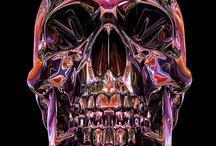 Ӝ̵̨̄ Skull Crowns Art Ӝ̵̨̄ / by Kay Hartman