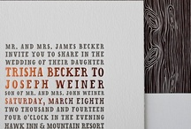 wedding paper / The fonts, colors and styles that make up all the paper of the wedding -- from invite suites to programs to table cards. / by Kate Schweitzer