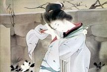 Japanese painting and prints/絵画 木版画 / by Milla