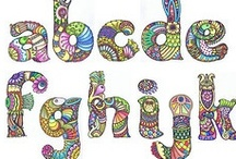 Zentangle Patterns & Lettering / Please see my other Zentangle-Doodle boards for lots more pins! / by Nancy Davis