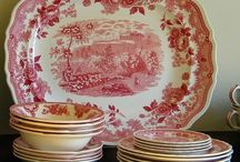 RED TRANSFERWARE / by Barbara McKinney
