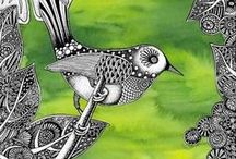 Zentangle -ishous, doodles and more / Zentangle, pen and ink art, doodles, drawings / by Toni Holder