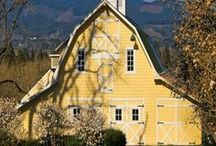 Farmhouses & Barns / Farms and Barns and country life / by Toni Holder