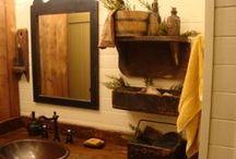 Primitive Bathroom.... / by Gail Napoliton Wilson