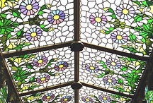 Stained Glass Every Where~ / Beauty of stained glass / by Mindy Beer~
