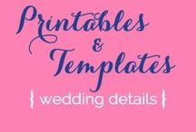 Weddings {Printables + Templates} / by Serendipity Designs - Wedding & Events