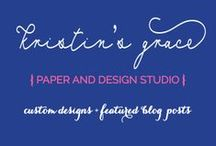 {Kristin's Grace} Creative Paper and Design Boutique / by Serendipity Designs - Wedding & Events