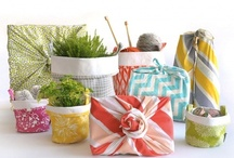 the many uses of fabric gift bags / by Amity Hook-Sopko