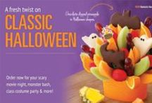 BOO-tiful Halloween Treats / A fresh twist on classic Halloween... Order now for your scary movie night, monster bash, class costume party & more! / by Edible Arrangements