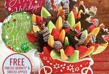 Holiday Party Ideas / Our Christmas Collection is filled with bright, beautiful winter fruit bouquets that are sure to be the life of the party this year!  Plus, for a limited time only, select arrangements are available in keepsake Christmas containers that you can use to decorate year after year. / by Edible Arrangements