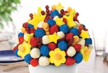 Red, White and Blueberries! / There's nothing that says summer like the taste and color of fresh fruit! We are inspired by not only our red, white, and blue creations but by all of  the amazing ideas everyone else has on Pinterest.  / by Edible Arrangements