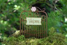 Fairies in the yard / Fairy Garden ideas / by Christi Shearer