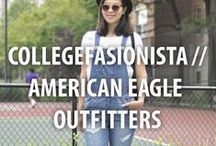 CollegeFashionista // American Eagle Outfitters / Our Style Gurus hit their campuses in style thanks to great fitting and super stylish American Eagle Outfitters jeans for all sorts of occasions. Get #backtoschool inspiration here. #AEOStyle / by CollegeFashionista