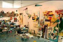 Home // Art Studio / New Year's studio make-over inspiration board / by Kaci Ferguson