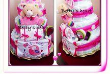 Diaper Cakes - Torte di pannolini / My diaper cakes collection - Le mie torte di pannolini! / by Torte di pannolini Betty's Heart