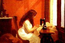 My Art Museum / Great artworks. Most by Monet(34),Munch(30),vanGogh(29),Sargent(27), Picasso(27),Hopper(26),Homer(25),Klimt(23),Gauguin(22),Matisse(20),Renoir(16), A.Wyeth(16),Rembrandt(15),Redon(15),Pissarro(12),Bellows(11),Bonnard(10),Mucha(10),Sloan(9),Zorn(9), Seurat(9), Vuillard(9),Rivera(9),Rodin(9),Caillebotte(9),Modigliani(8),Vermeer(8),Cartier-Bresson(8). [If not noted, medium is oil or tempera] / by Steven Seidman