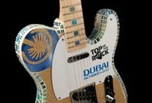HARD ROCK TOP OF THE ROCK GUITARS / Each month, Hard Rock celebrates the success of 1 stellar Hard Rock Cafe and honoring them with a 1 of a kind custom city inspired guitar. / by HARD ROCK