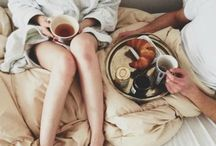 get cozy with me / tea, coffee, blankets, books, movies / by Kiani ♡