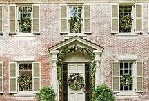 Exterior color ideas, painted brick, stucco, siding. / by Shawn Weigman Designs