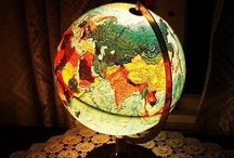 Globes/paperweights/maps/cartography / Including snow globes / by Frederike Willemse