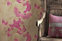DECOR  | FLOOR WALL & TEXTILE / rugs, curtains, cushions, wallpaper, prints, tiles,  .... / by R M architect®