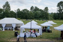 CUH Event Lawn / The Event Lawn can accommodate 300 people easily.  A large tent with or without flooring is the responsibility of the renter.  Parking and porta-potties are included in the rental price of $2,000 for a 24-hour period. / by UW Botanic Gardens