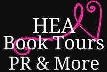 HEA Book Tours, PR & More / HEA Book Tours, PR & More  focuses on helping #authors reach more #readers through the use of #blogs and different social media networks. We believe that if done properly, book tours can be a great marketing tactic for authors to gain more exposure.   Website: http://heabooktours.blogspot.com/ Facebook: https://www.facebook.com/HeaBookTours Email: heabookshelf@gmail.com / by Lydia Isabelle Q.