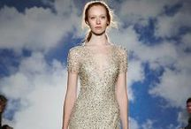 Beaded Wedding Dresses / Whether it's a few hand-sewn spots or an entire beaded dress, beads are back on the wedding runways. / by Colin Cowie Weddings