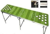 Sports Game Beer Pong Tables / For all of you sports lovers out there! / by Skip's Garage