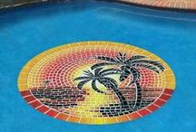 Pool Mats, Pool Art / We also have the best selection of decorative pool art and mosaics that are a perfect fit for any pool! / by Skip's Garage
