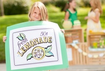 Stand Bling / Glass pitchers, fancy coolers, sparkly signs, OH MY! Our fav accessories for a lemonade stand - from the divine to the ridiculous. / by Lemonade Day