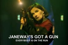 Janeway Is My Home Girl! / Captain Kathryn Janeway, Starship Vovager. / by The Musings & Gleanings of a Sci-fi Chick