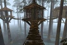 treehouses / fabulous treehouse homes / by kristin burgess {by emily b.}