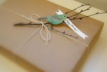 Pretty Present Wrapped / A beautifully wrapping heightens the sense of anticipation for the person fortunate to recieve it. And when gorgeously wrapped, any gift can be so much more than the sum of its parts. / by E Carr