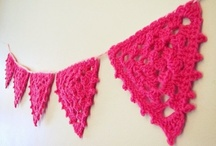 crochet tutorials garlands, bunting, banner / by Jeannette