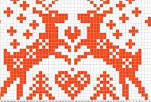 Cross stitch reindeer / deer / by Jeannette