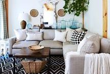 Home Design: Living Spaces / Unique design ideas for your living room, den and more / by Kenda Smith