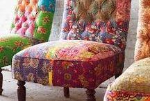 """Interior / Verrückte Möbel, bezogen mit Patchwork oder aus """"Alt macht Neu"""" - einfach ungewöhnliche Sachen, die inspirieren! / by Andrea Kollath"""