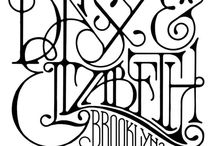 design: lettering / typography / by Mika Hillery