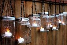 Mason Jars Crafts & More / Bottles, glass, and mason jars refurbished into new life with various craft ideas. Try one or try them all. Enjoy! / by Lisa Hall