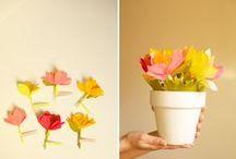 DIY ~ fleurs & moulins en papier / by Charlotte Pinson