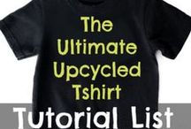 The Ultimate Upcycled Tshirt Tutorial List  / The motherload of tutorials to refashion and/or reimagine your unwanted or worn out tshirts into something new.  / by Jenelle - TrashN2Tees