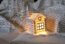 Book Crafts / In the digital future of publishing, here are some neat DIY ideas to reuse and recycle old print books. / by Open Road